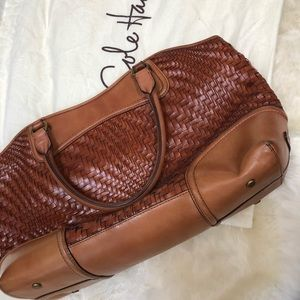 Cole Haan woven tote
